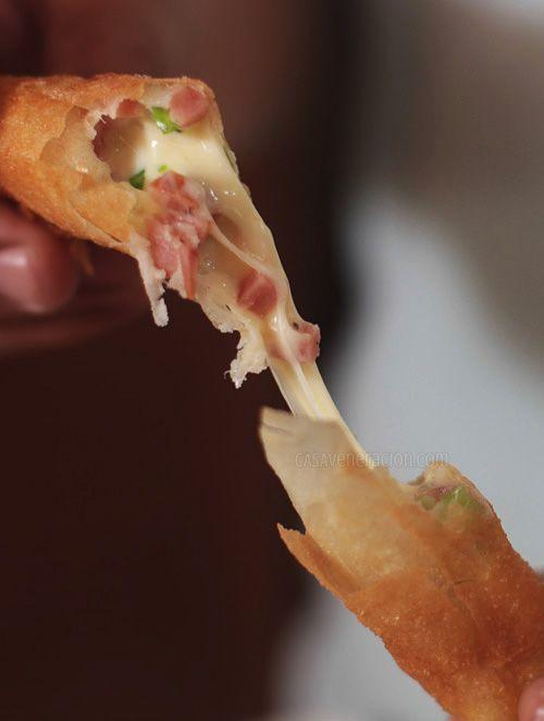 2.ハムを使えば調理も簡単♪ - とろ~りモッツァレラは絶対おいしい!サクとろ春巻きを作ってみよう (2ページ目)|CAFY [カフィ]