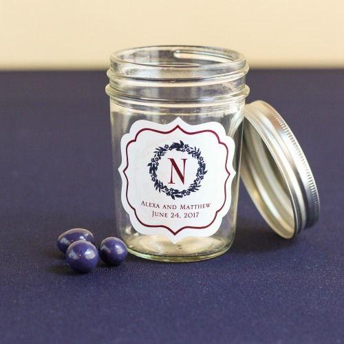 Personalized Wedding Themed Mason Jars