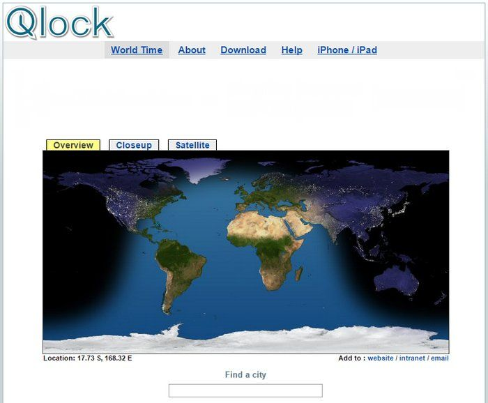 Qlock te permite conocer la hora exacta en cualquier lugar del planeta