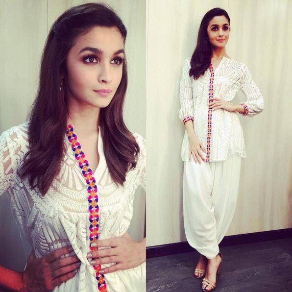 <3 Alia Bhatt <3 In white