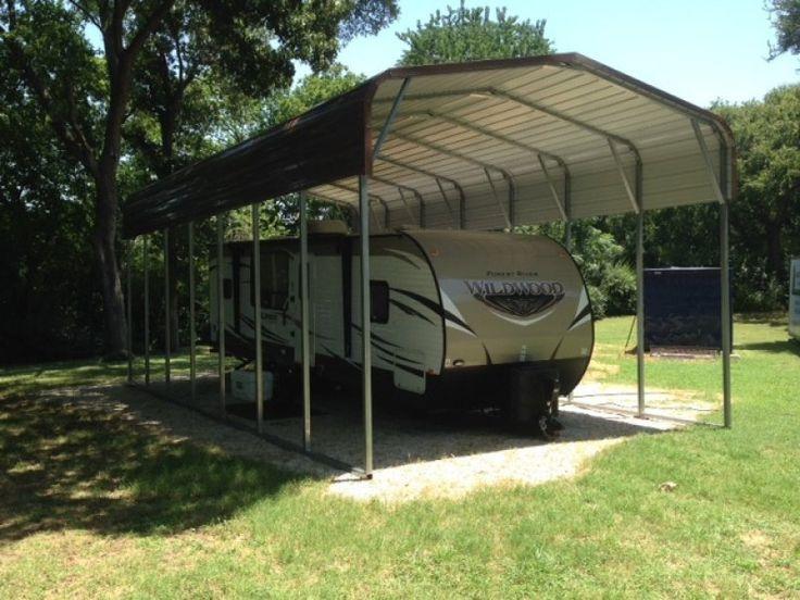 Carport Regular Roof 18W x 36L x 12H Metal RV Camper