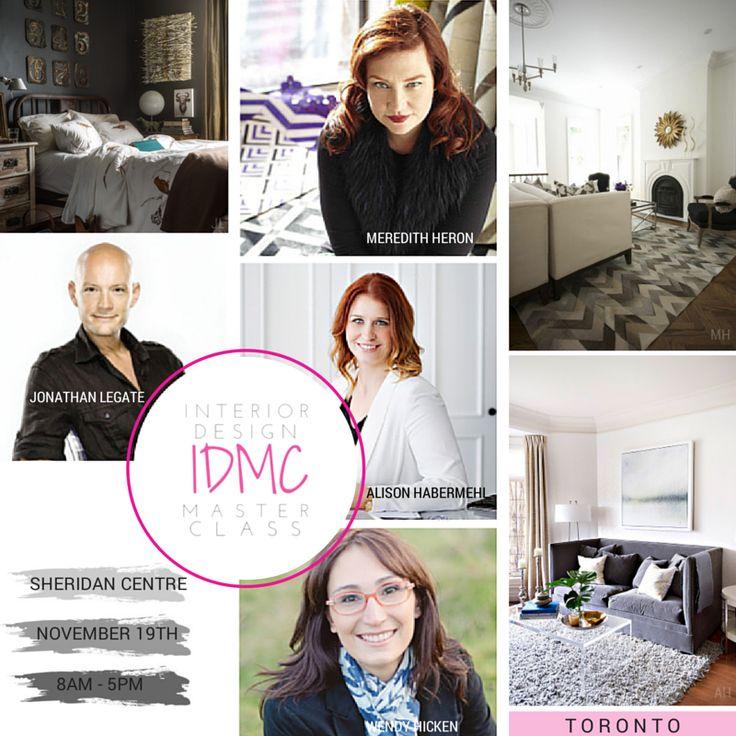 #IDMC14 Toronto Speaker Spotlight | Interior Design Master Class in Toronto November 19th. @meredith_heron @hdstylestudio @jonathanlegate @wendyhicken