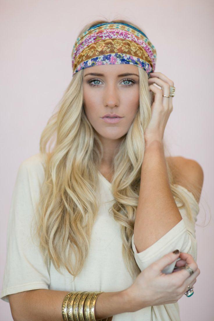 Boho Headband Cute Hair Bands Patchwork Head Wrap By