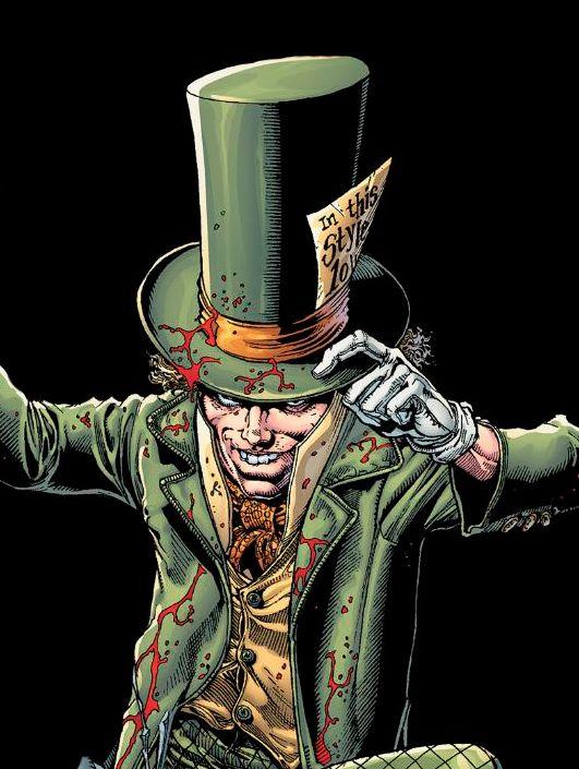 El sombrerero loco es el doctor Jervis Tetch, uno de los enemigos de Batman. Inspirado en el personaje de Alicia en el País de las Maravillas