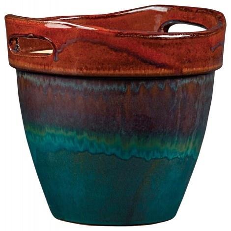 New England Pottery Wasabi Glazed Ceramic Planter Z Km