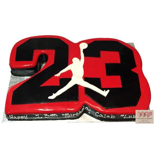 Michael Jordan 23 Birthday Cake cakepins.com
