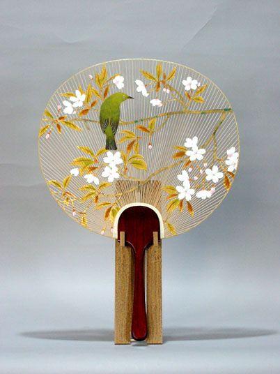 Uchiwa - Traditional Japanese fan 画像1: 特大型うちわ「陽春」