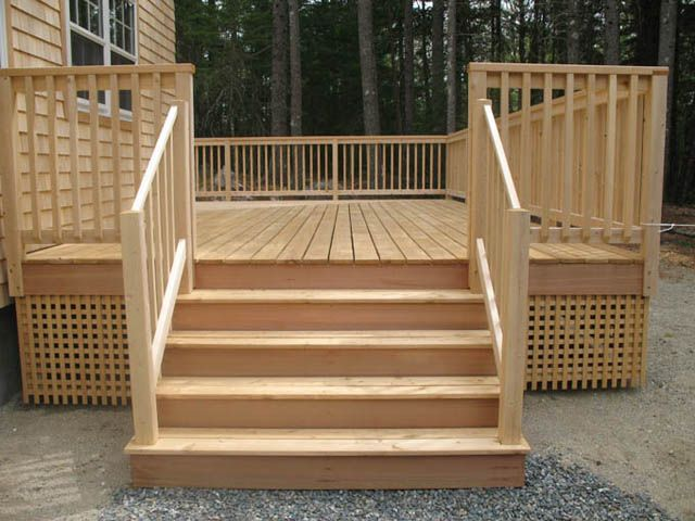 Best Deck Stairs Pictures Timber Frame Gallery House In The 400 x 300
