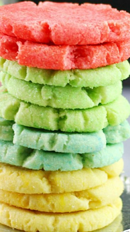 Jello Cookies Recipe ~ Perfect for Spring, and a snap to make