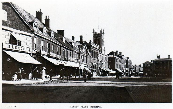 Market Place East Dereham unused RP old postcard by WHS Kingsway | eBay
