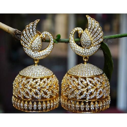 Beautiful earrings! -https://www.cooliyo.com/product/88271/real-look-peacock-diamond-jhumka-earrings/