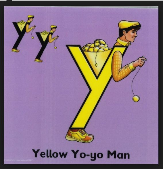Letter land to the rescue with yellow  Yo-yo man.