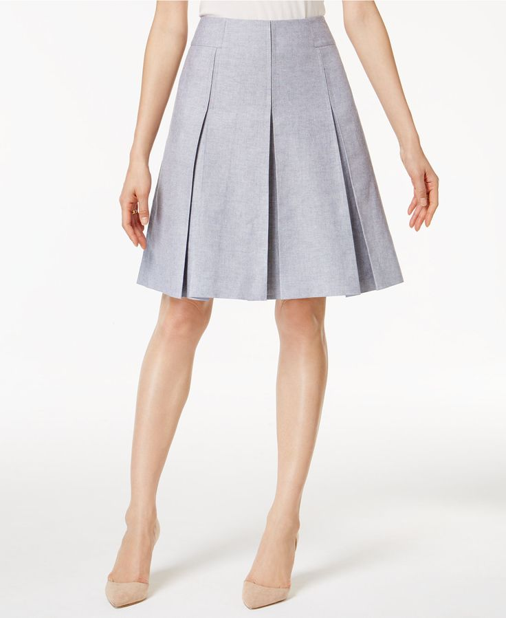 Tommy Hilfiger Pleated A-Line Skirt - Suits & Suit Separates - Women - Macy's