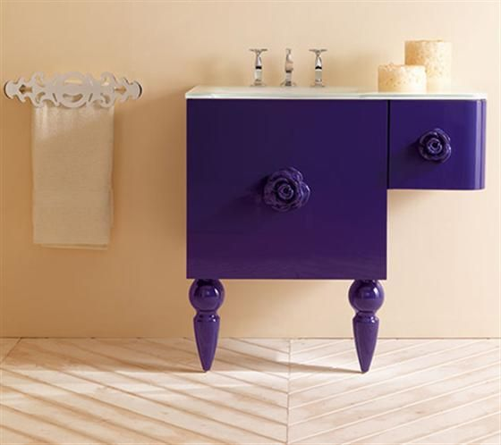 Dark iris vanity dressing table from Amarcord for Eurolegno. Retro modern with a dash of luxurious femininity.