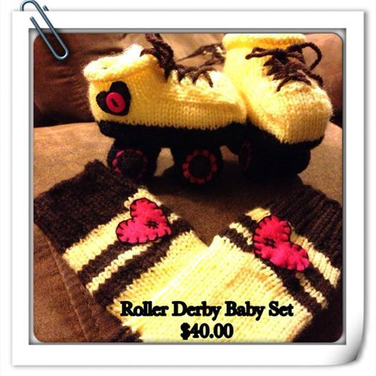 roller skates and leg warmers