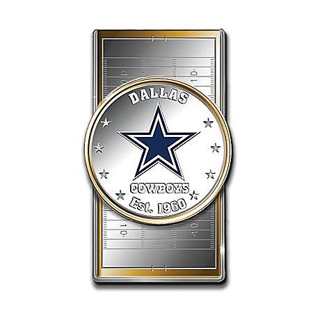 Official NFL Dallas Cowboys Silver Dollar Money Clip