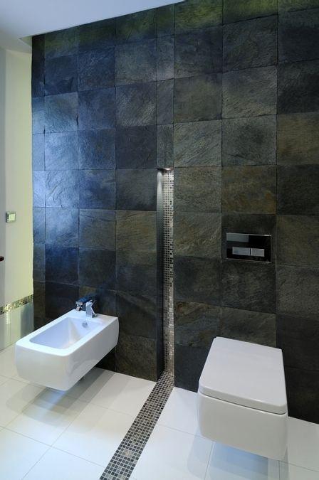 łazienka Czerń i srebro | All-Design Projektowanie wnętrz Kraków, Projekty wnętrz, Architekt Agnieszka Lorenc