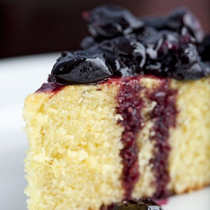 Skillet Corn Cake with Stewed Cherries Recipe with all-purpose flour ...