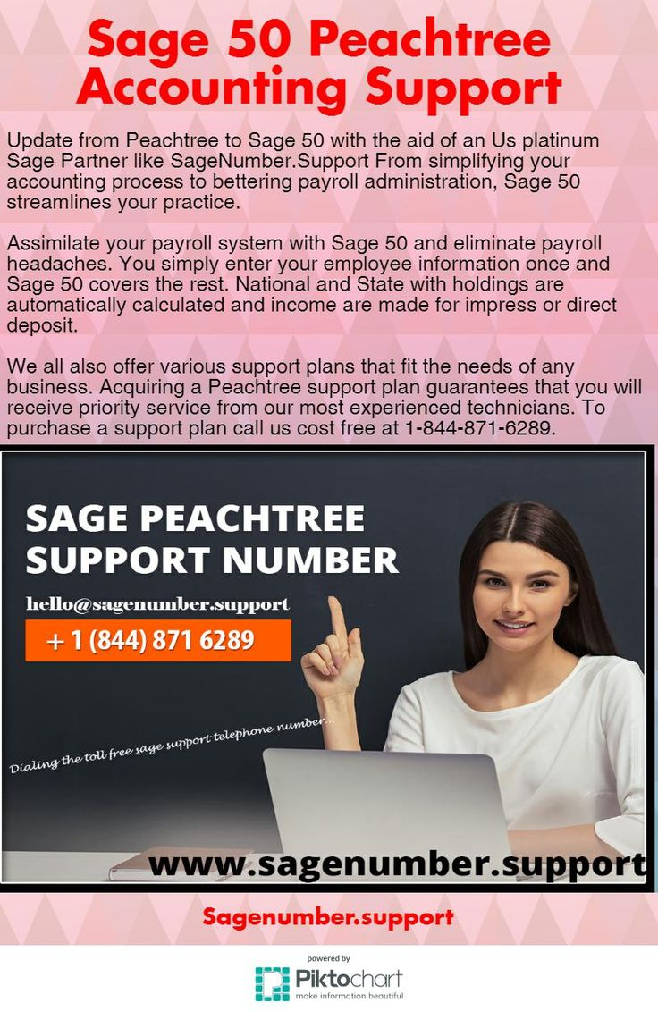 Sage 50 Peachtree Accounting Support