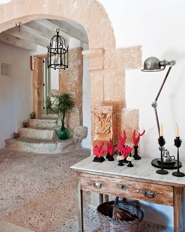 .Stones Step, Country Villas, Stones Wall, Country House, Interiors Design, Moroccan Style, Stones Crafts, Modern Interiors, Stones House