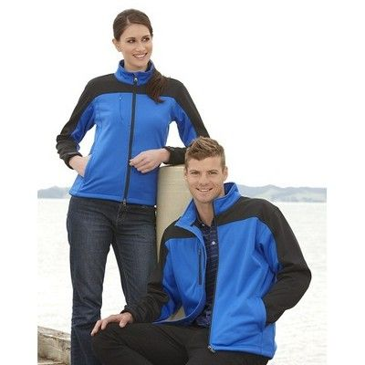 Womens Soft Shell Contrast Jacket Min 25 - A 100% bonded poly exterior and poly knit outer lining fabric with micro fleece lining womens jacket. http://www.promosxchange.com.au/womens-soft-shell-contrast-jacket/p-9164.html