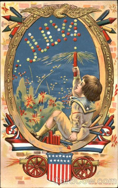 July 4 4th of July. Great site for vintage postcards and images. In love!