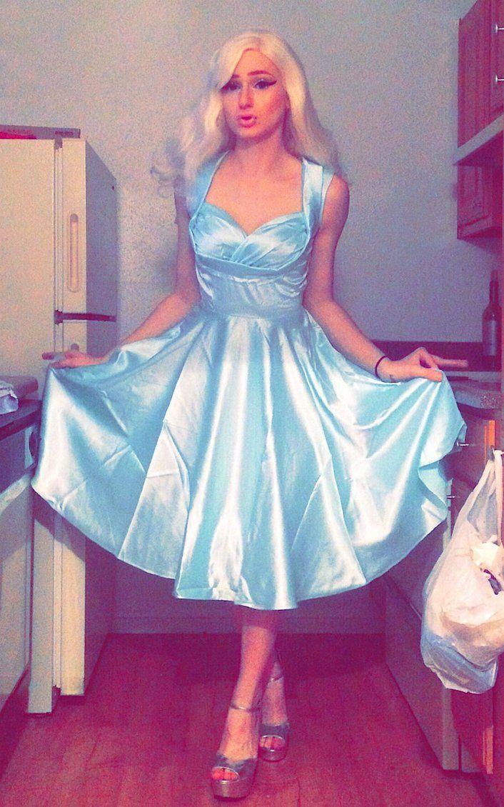 d608bbbe103f Stepford Bimbo Housewife by josiejealousy.deviantart.com on @DeviantArt |  Crossdressers in gowns in 2019 | Dresses, Tgirls, Crossdressers