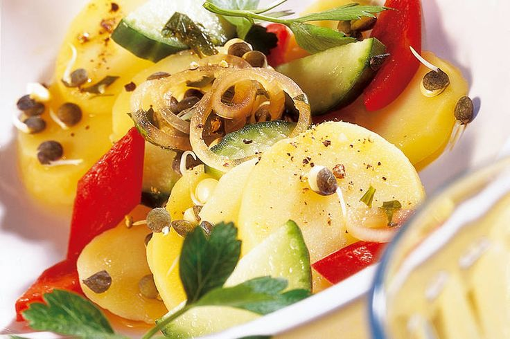 Lauwarmer Kartoffelsalat Rezept - FIT FOR FUN