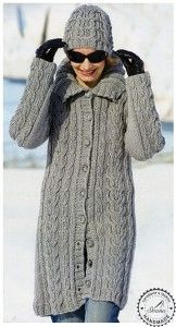 Návod - dlhý sveter a čiapka