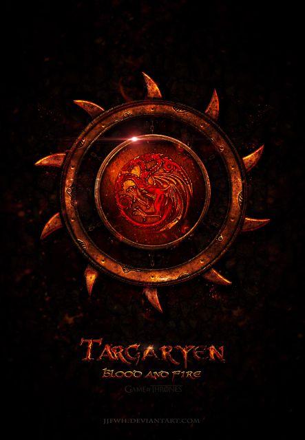 House Targaryen ~ Game of Thrones Fan Art by Jie Feng