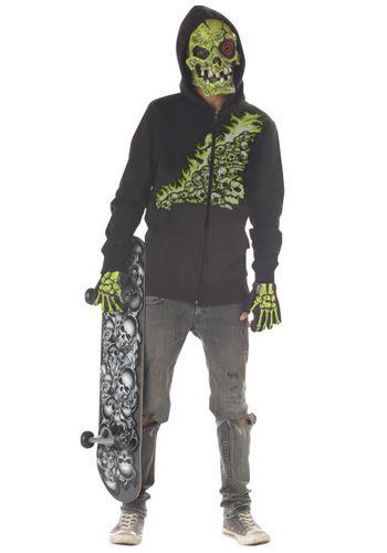 scary skeleton sweatshirt costume for children
