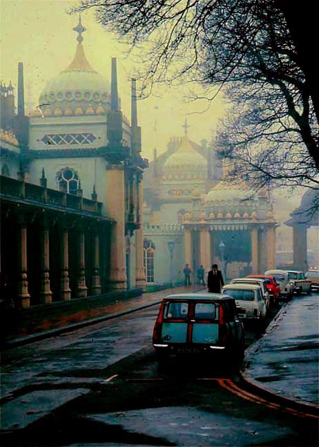 The Royal Pavillion, Brighton, on a Foggy Day   John Nash  1815  Photograph 1965 George P. Landow
