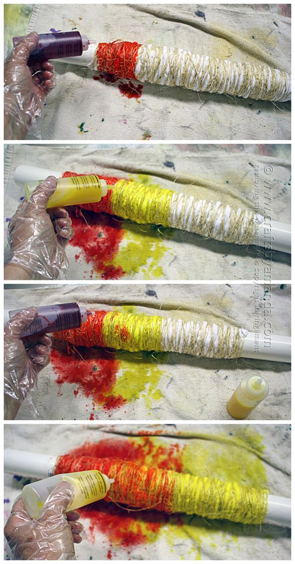 Add the dye in ombre style. what about start wrap in middle. wrap one side then middle, do light is more centered