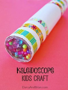 Looking for a fun kids project? Inspire creativity with this easy homemade kaleidoscope craft. Kids crafts are the perfect, low cost family activity. This is fun for preschool children, but they will need assistance to assemble it.