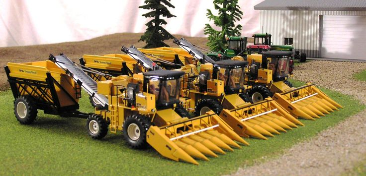 1/64 OXBO Sweet Corn Pickers.  Check out Work Bench Wednesday projects each week at https://www.facebook.com/pages/Toy-Tractor-Times/325316476894