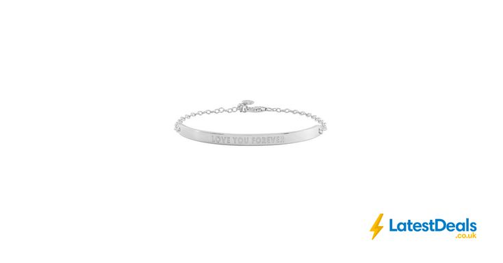 Love Story - Sterling Silver 'Love You Forever' Valentines i.d. Bar Bracelet, £26.99 at Debenhams