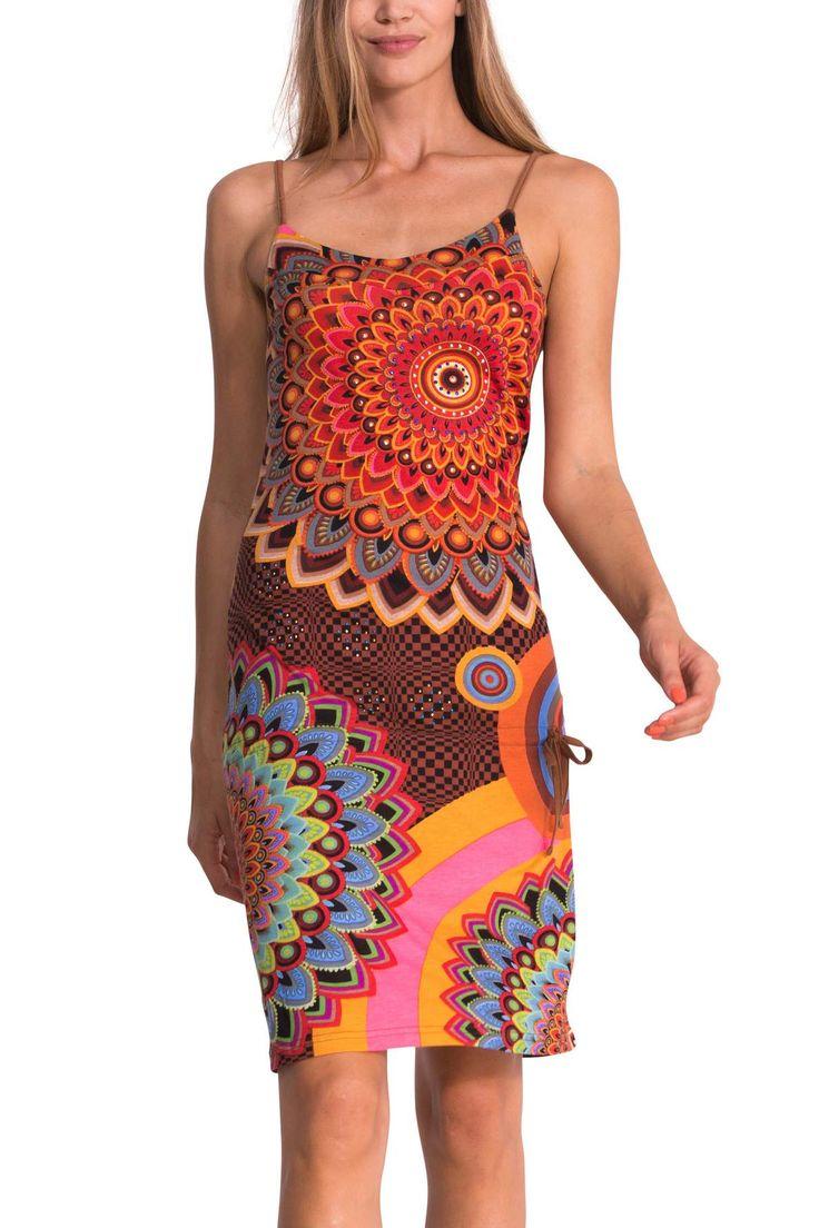 Psychedelische jurk met schouderbandjes   Desigual Tobago