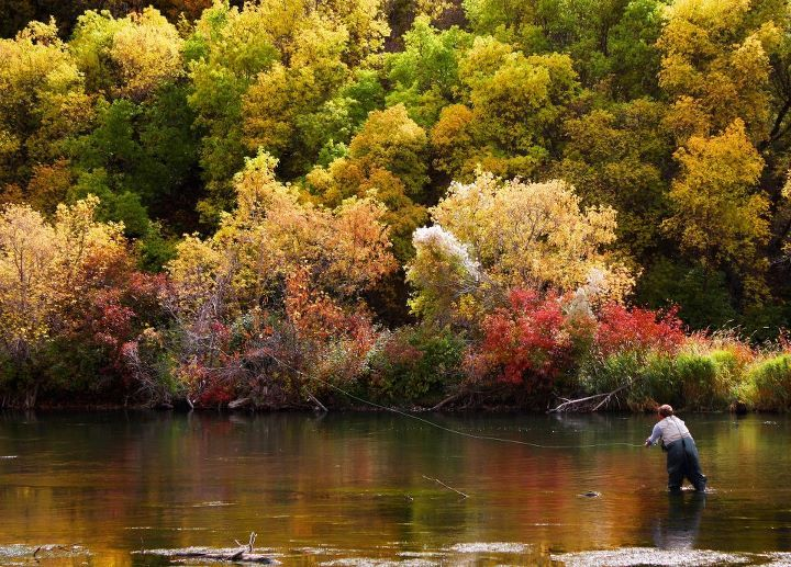 One of my favorate fishing holes on the provo river, in provo utah