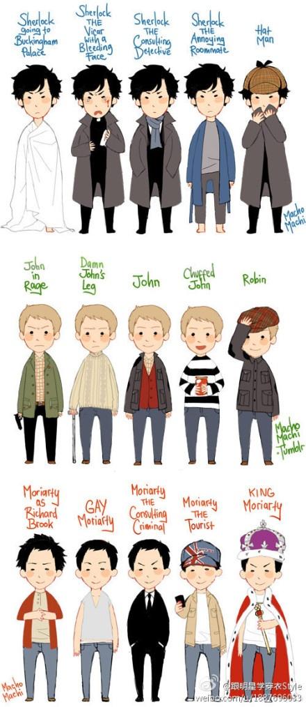 好Q!!!,Sherlock的衣橱。英国迷你剧Sherlock Holmes,活生生是一本现代绅士的穿搭手册啊!