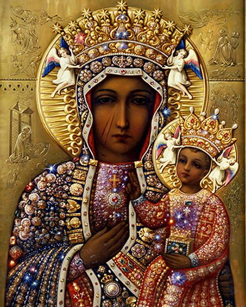 Our Lady of  Czestochowa...icon from Poland.