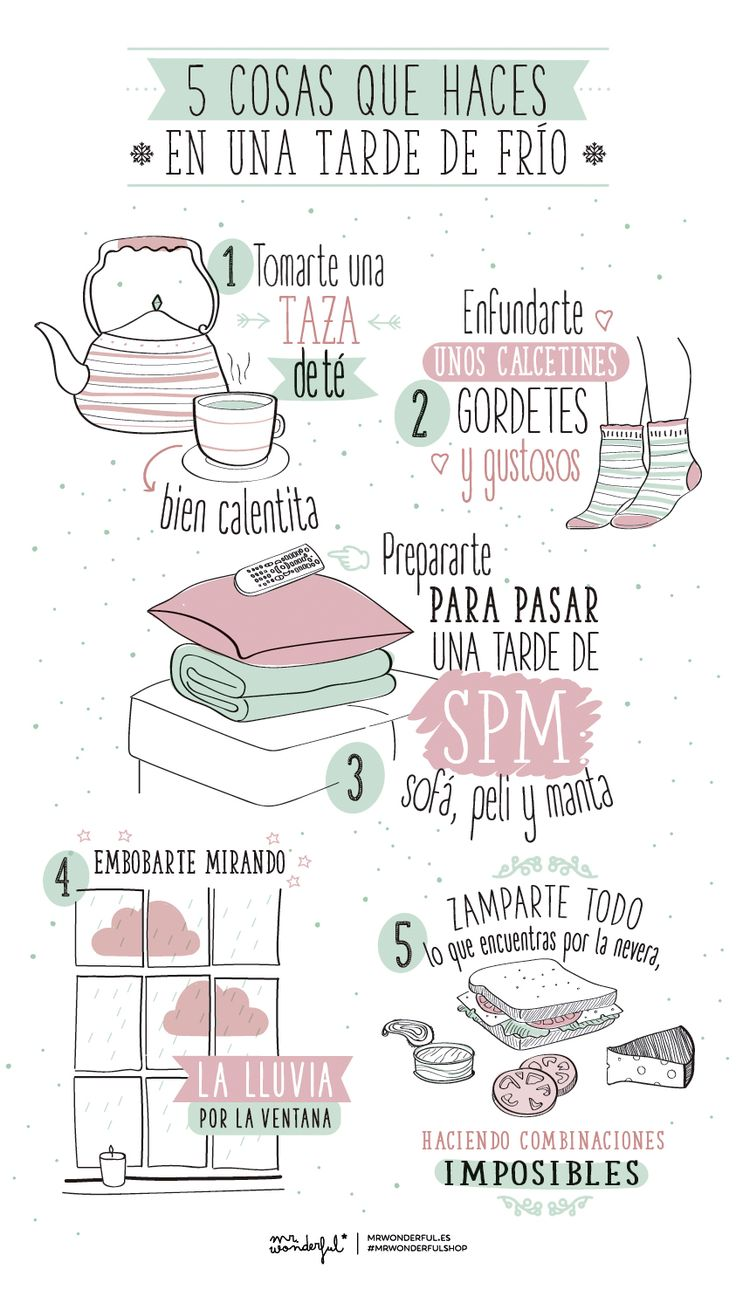 5 cosas que haces en una tarde de frío. | by Mr. Wonderful*