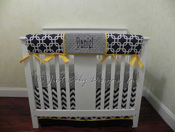 Baby Boy Mini Crib Bedding  Boy Mini Crib Baby by BabyBeddingbyJBD