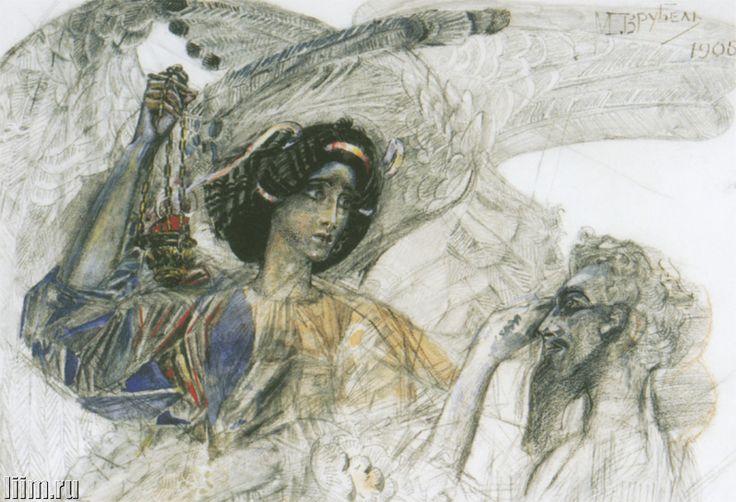 Mikhail Vrubel / Prophet / Watercolor, charcoal. 1905.