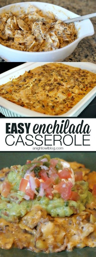 Easy Enchilada Casserole - an easy combination of all the flavors of your favorite enchilada recipes, in one easy casserole!