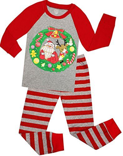 Girls And Boys Christmas Pajamas Children Santa Claus Sleepwear Kids PJs  Pants Set Size 5 Years     You can find more details by visiting the image  link. e61e676b7
