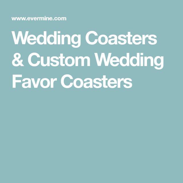 Wedding Coasters & Custom Wedding Favor Coasters