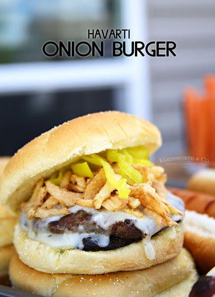 Havarti Onion Burger Recipe is the perfect grilling recipe to #hashtag