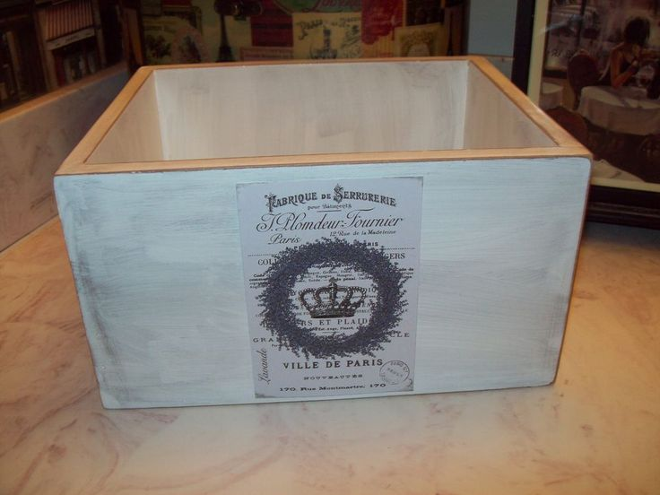 White Paris Lavender wreath storage box Shabby cottage chic country decor     eBay
