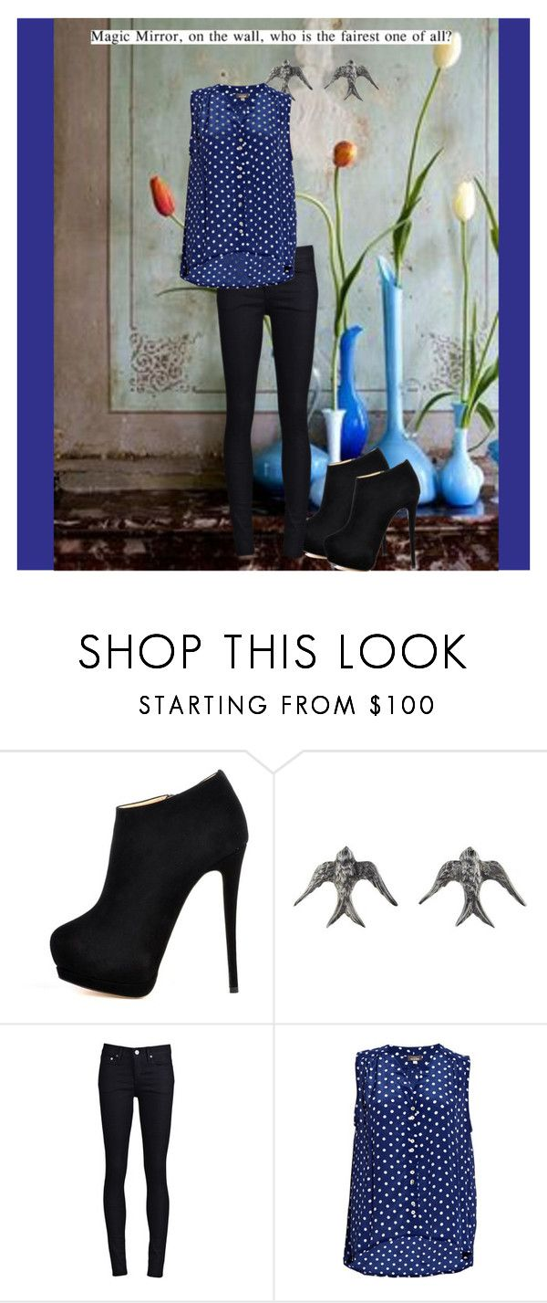 """""""Magic Mirror"""" by stellazu ❤ liked on Polyvore featuring Giuseppe Zanotti, Blackbird and the Snow, THVM and Mercy Delta"""