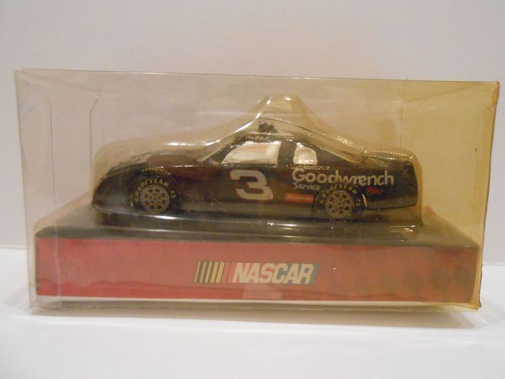 Nascar Dale Earnhardt 3 Race Car Glass Christmas Ornament Goodwrench 2004 #Goodwrench #Goodwrench